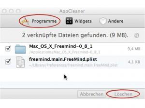 AppCleaner, Apps löschen und zwar restlos!