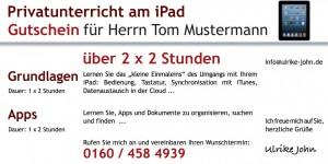 Gutschein für iPad oder iPhone Unterricht