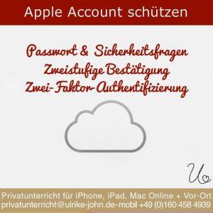 Apple Account, Apple-ID schützen - 3 Möglichkeiten